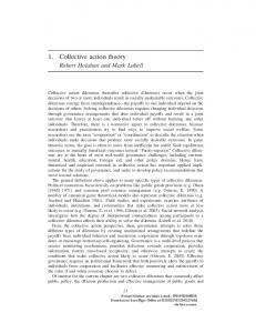 1. Collective action theory