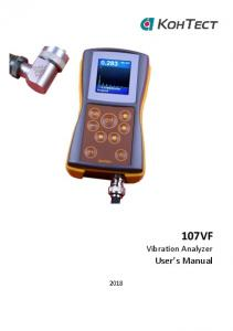 107VF Vibration Analyzer User s Manual