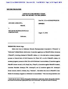 16 Page 1 of 24 PageID: 6676 UNITED STATES DISTRICT COURT FOR THE DISTRICT OF NEW JERSEY
