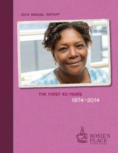 2014 annual report. the first 40 years