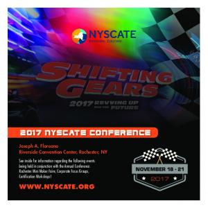 2017 NYSCATE CONFERENCE