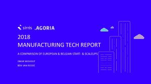 2018 MANUFACTURING TECH REPORT