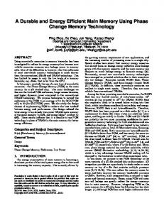 A Durable and Energy Efficient Main Memory Using Phase Change Memory Technology