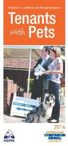 A Guide for Landlords and Managing Agents. Tenants. Pets. with