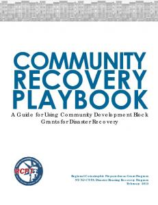A Guide for Using Community Development Block Grants for Disaster Recovery