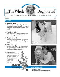 A monthly guide to natural dog care and training