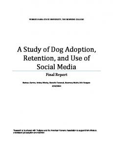 A Study of Dog Adoption, Retention, and Use of Social Media