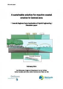 A sustainable solution for massive coastal erosion in Central Java