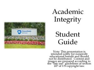 Academic Integrity. Student Guide