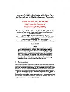 Accurate Solubility Prediction with Error Bars for Electrolytes: A Machine Learning Approach
