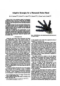 Adaptive Synergies for a Humanoid Robot Hand