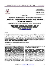 Adsorption Studies on the Removal of Hexavalent Chromium-Contaminated Wastewater using Activated Carbon and Bentonite