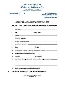 ADULT GUARDIANSHIP QUESTIONNAIRE