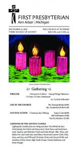 Advent Candles 2015 John Stuart. Gathering. PRELUDE Overture in G Minor Georg Philipp Telemann O Come, O Come, Emmanuel arr