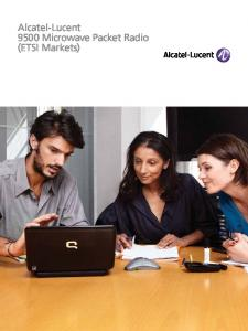 Alcatel-Lucent 9500 Microwave Packet Radio (ETSI Markets)