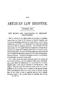 AMERICAN LAW REGISTER,
