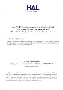 An FPGA-specific Approach to Floating-Point Accumulation and Sum-of-Products