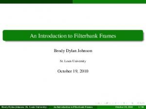 An Introduction to Filterbank Frames