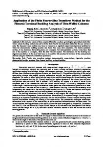 Application of the Finite Fourier Sine Transform Method for the Flexural-Torsional Buckling Analysis of Thin-Walled Columns