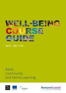 April - July Adult, Community and Family Learning