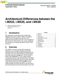 Architectural Differences between the i.mx23, i.mx25, and i.mx28