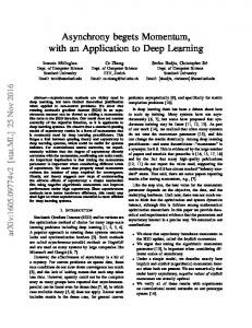Asynchrony begets Momentum, with an Application to Deep Learning