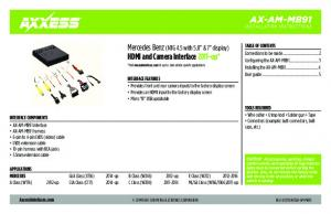 AX-AM-MB91. Mercedes Benz (NTG 4.5 with 5.8 & 7 display) HDMI and Camera Interface 2011-up*
