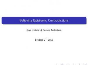 Believing Epistemic Contradictions
