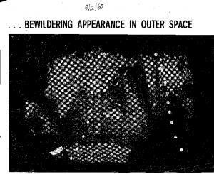 BEWILDERING APPEARANCE IN OUTER SPACE