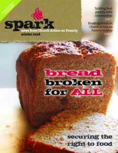 bread broken for ALL securing the right to food Breaking bread on Church Action on Poverty Sunday page 14