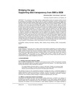 Bridging the gap: Supporting data transparency from BIM to BEM