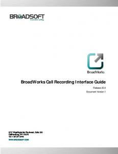 BroadWorks Call Recording Interface Guide