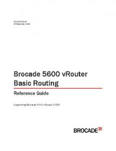 Brocade 5600 vrouter Basic Routing