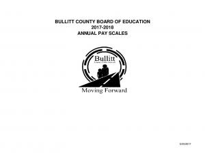 BULLITT COUNTY BOARD OF EDUCATION ANNUAL PAY SCALES