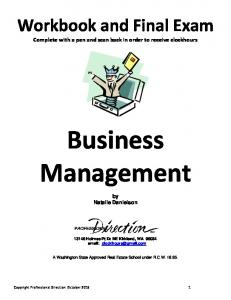 Business Management by Natalie Danielson