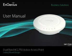 Business Solutions. User Manual. EAP1750H version 1.1. Dual Band AC1750 Indoor Access Point Ceiling Mount Design