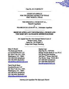 Case No CV COURT OF APPEALS FOR THE SECOND DISTRICT OF TEXAS FORT WORTH, TEXAS
