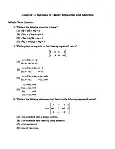 Chapter 1: Systems of Linear Equations and Matrices