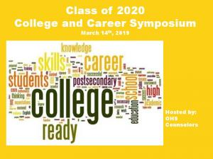 Class of 2020 College and Career Symposium