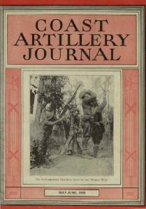 COAsrr ARTILLERY JOURNAL I MAY-JUNE, 1935 ~ AN ANTIAIRCRAFT MACHINE GUN IN THE \\forld \X' AR