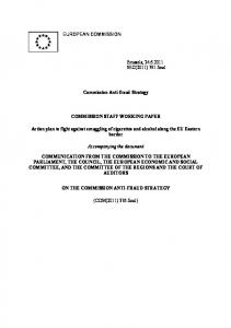 Commission Anti-fraud Strategy COMMISSION STAFF WORKING PAPER