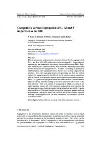 Competitive surface segregation of C, Al and S impurities in Fe(100)