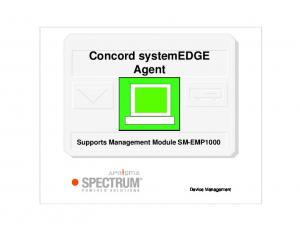 Concord systemedge Agent Supports Management Module SM-EMP1000