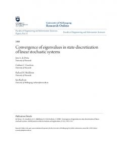 Convergence of eigenvalues in state-discretization of linear stochastic systems