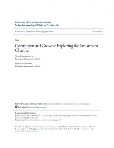 Corruption and Growth: Exploring the Investment Channel