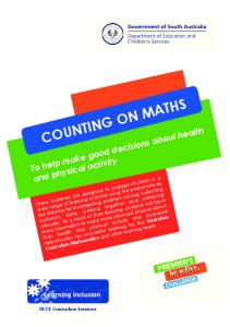 COUNTING ON MATHS. DECS Curriculum Services