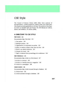 CSE Style A DIRECTORY TO CSE STYLE