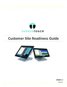 Customer Site Readiness Guide VERSION 1.4