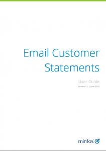 Customer Statements. User Guide