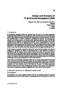 Design and Analysis of IP-Multimedia Subsystem (IMS)